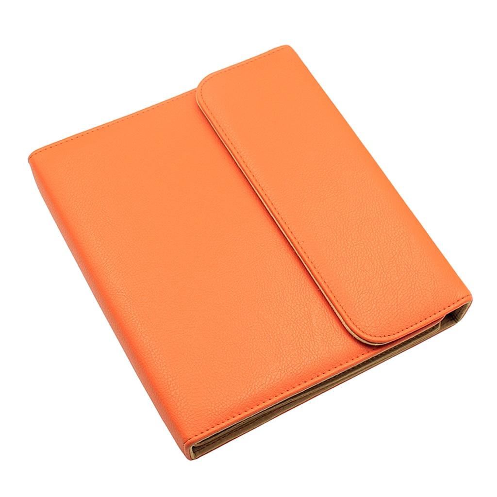 مقص تصفيف الشعر والجلود حقيبة للتخزين المقصات حقيبة الحقيبة الحافظة البرتقال