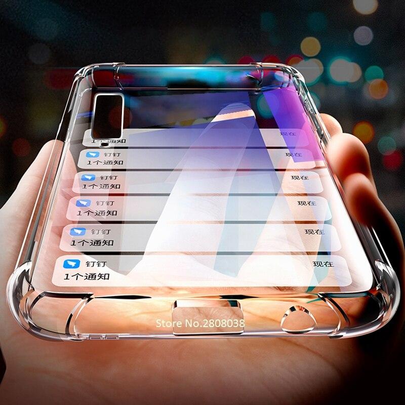 Lujosa funda a prueba de golpes para Samsung Galaxy S9 S8 Plus Note 10 9 Plus Pro, funda de silicona transparente para Samsung S10 S20 Ultra Plus