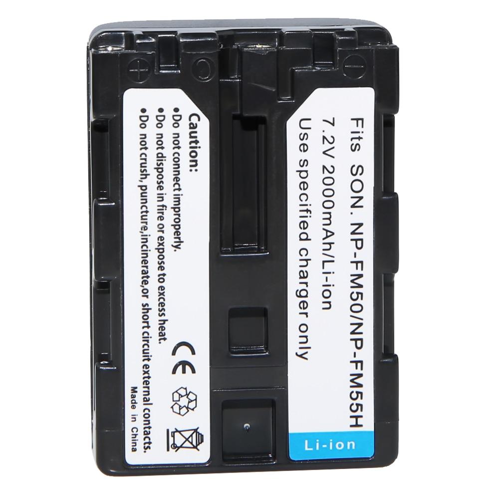 1 Uds NP-FM50 NP FM50 NPFM50 Cámara recargable de la batería para Sony Alpha A100 DSLR-A100 A100K CCD-TRV408 DCR-PC105