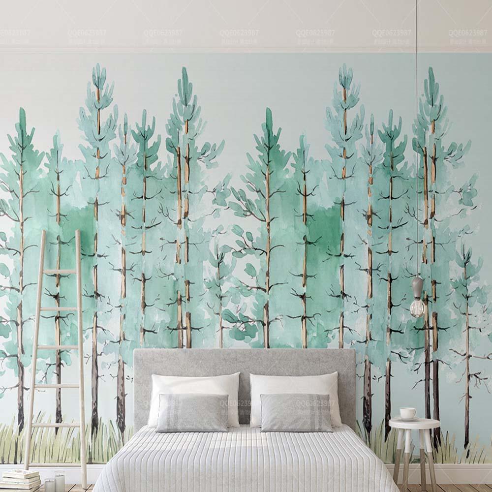 3D 5D 8D Europa GreenTree papel pintado Mural para sala de estar TV Fondo pared decoración paisaje personalizado relieve naturaleza murales lienzo