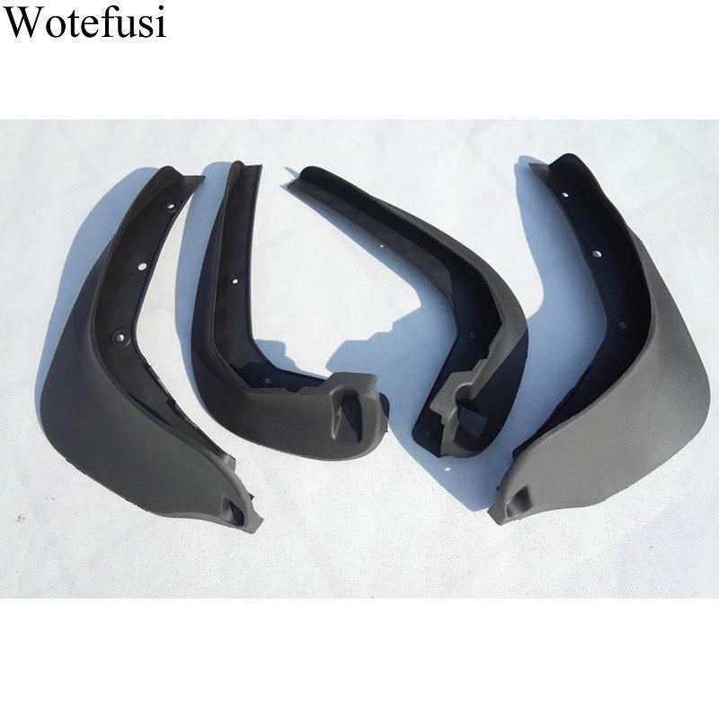 Wotefusi 4 piezas delantera y trasera guardabarros Splash barro guardias para Mini Cooper 2011, 2015, 2012, 2013, 2014 [LP547]