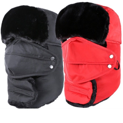 2017 Winter Hat Bomber Hats For Men Women Thicken Fur Winter Earflap Keep Warm Caps Ear Flaps and Ma