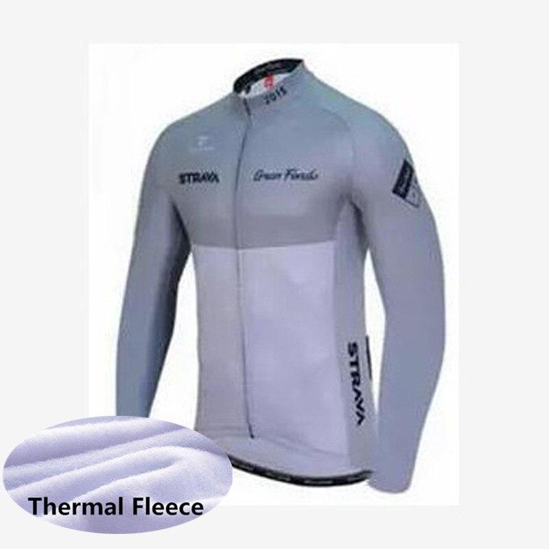 Nuevo 2019 hombres Invierno Polar térmico de manga larga ciclismo Jersey ropa de montaña camino al aire libre ropa de bicicleta K022206