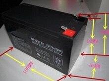 Darmowa wysyłka 12 v 7Ah kwasowo-ołowiowych baterii akumulatorów