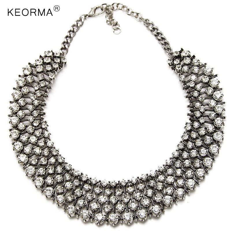 KEORMA Classic Kate Princess Middleton Luxury High Quality Rhinestone Statement Necklaces & pendants Choker Jewelry NK100