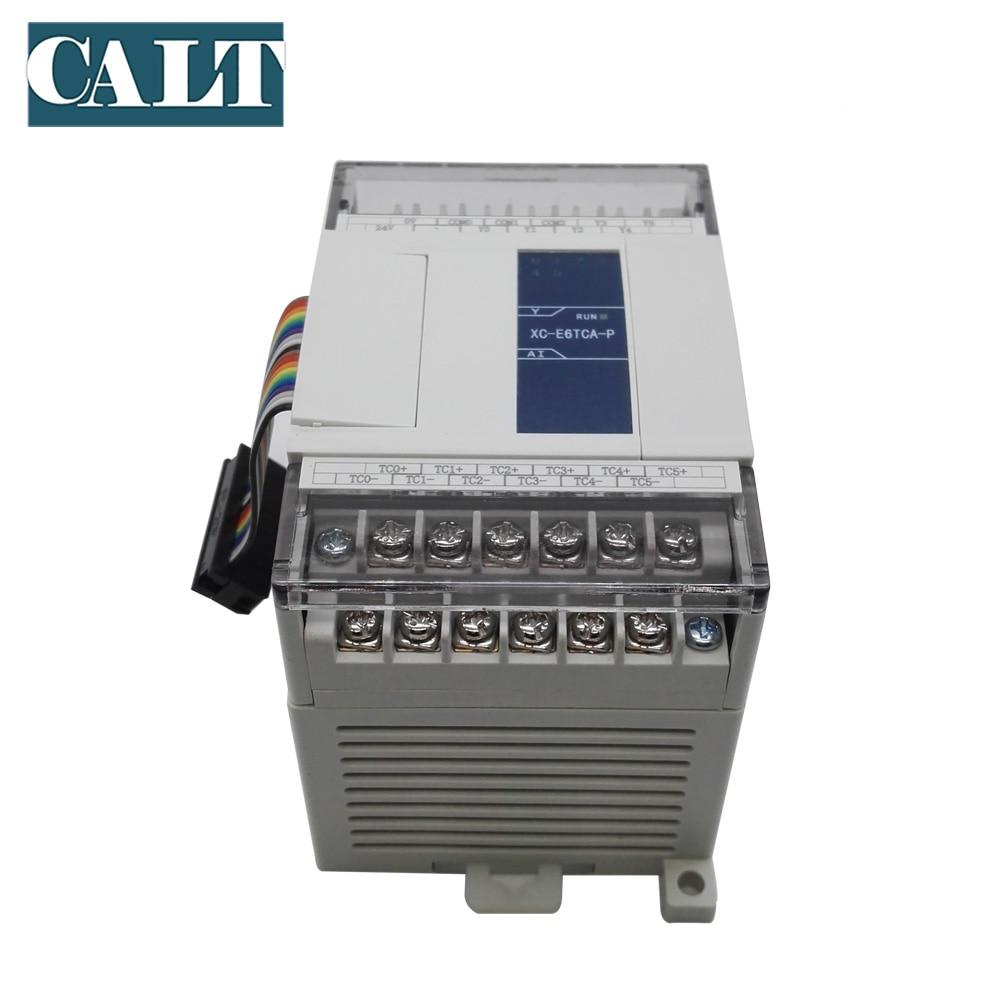 XINJE  XC-E6TCA-P 6 channels Thermocouple temperature control module of XC series PLC Extension Module PID function XC-E6PT