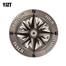 Yjzt 13 cm * 13 cm 재미 있은 당신의 안 나침반을 따르십시오 pvc 고품질 자동차 스티커 11-00172