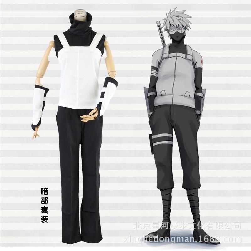 Костюм для косплея Amime Naruto Shippuden Hatake Kakashi Anbu, полный комплект, униформа костюмы для Хэллоуина, размер S-XXL