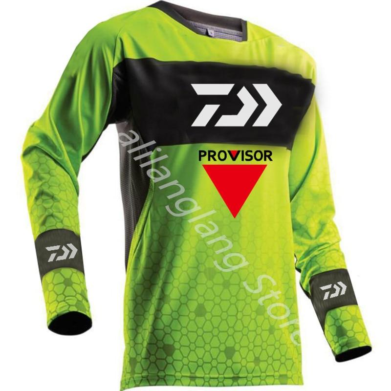Nuevo Daiwa, ropa de escalada profesional para senderismo, Anti UV de pesca, antimosquitos, transpirable, de secado rápido, camisa de pesca con capucha para hombre