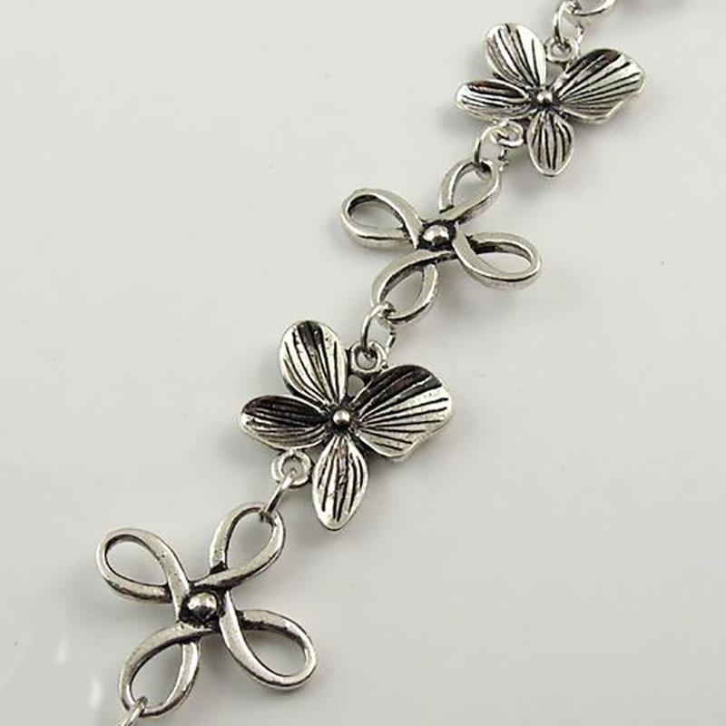 1 metro, 1 lote, joyería de tono metálico de estilo antiguo, collar de llave, cadena, accesorio de joyería, 24x3MM, 30658-005C