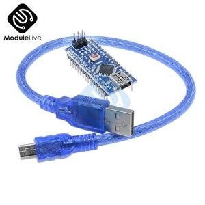 Nano Mini USB с кабелем Провод Совместимый Nano 3, 0 контроллер для Arduino CH340 USB драйвер Nano V3.0 ATMEGA328P-AU 16 МГц