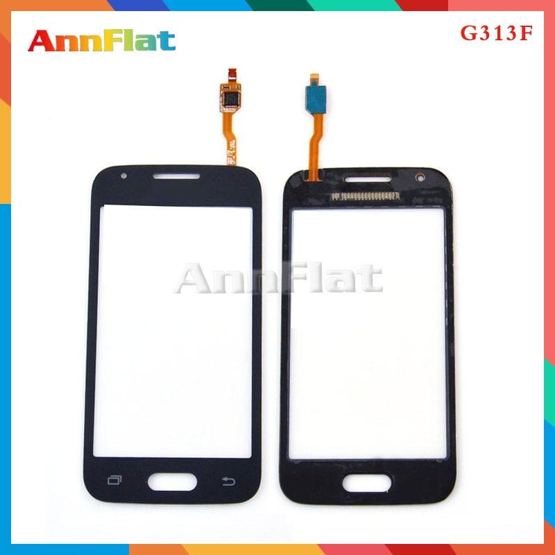 "50 unids/lote alta calidad 4,0 ""para Samsung Galaxy Ace 4 G313 G313H G313F pantalla táctil digitalizador cristal frontal lente Sensor Panel"