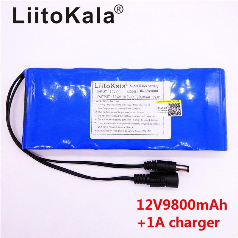 LiitoKala-batería recargable para cámara DE vídeo, 12 V, 9800 mAh, CC, 12...