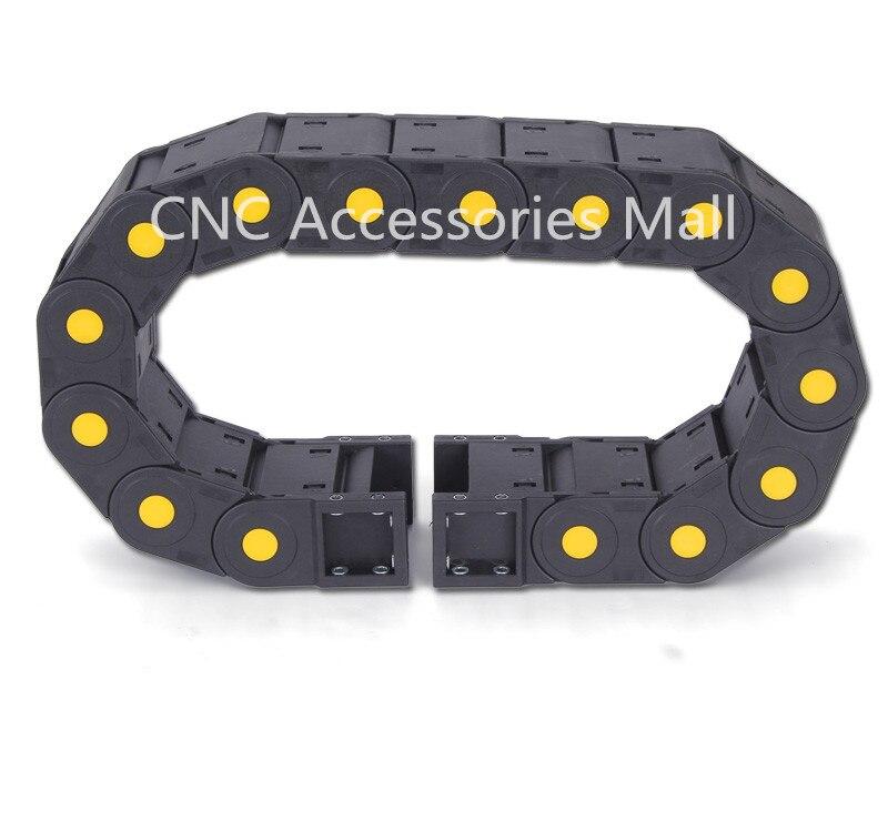1 metro 30*38/30*50/30*57/30*60 remolque mejorado completo -Cadena de arrastre cerrada con conectores finales para máquinas herramientas de enrutador CNC