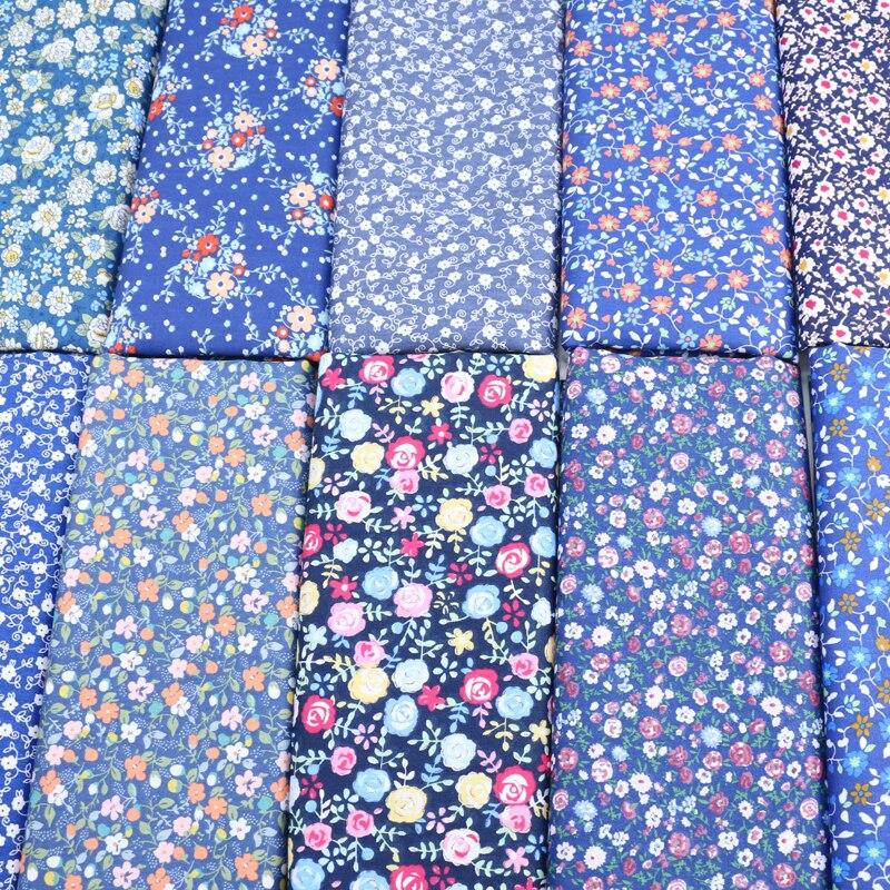 SRaekar hermoso vestido pastoral de flores pequeñas para niñas Diy textiles para el hogar costura cojines y Manta muñeca de tela de algodón para álbum de recortes