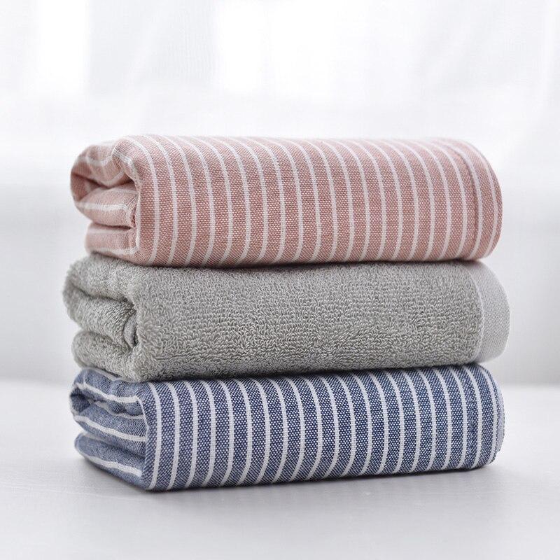 Marca Beroyal, 1 pieza, 100%, toallas de mano de algodón para adultos, toalla de mano a rayas para el cuidado del rostro, toalla deportiva de baño mágica, 34x76cm