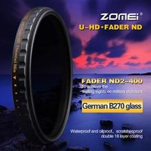 Zomei, filtre de densité neutre à revêtement multiple pour Canon Nikon, lentille de 52/58/67/72mm/77mm/82mm