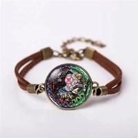 2017 kingdom hearts wheel game bracelet gamer gaming jewelry fashion cute cartoon leather bracelet gift women chain men necklace