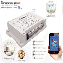 Itead Sonoff 4CH Pro R2 commutateur Wifi intelligent 4 voies 3 Modes de fonctionnement verrouillage automatique interrupteur RF/Wifi fonctionne avec Alexa