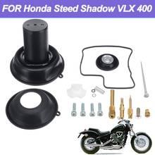 진공 다이어프램 플런저 키트 honda steed shadow vlx 400 용 니들 기화기 수리 키트가 장착 된 기화기 다이어프램 플런저