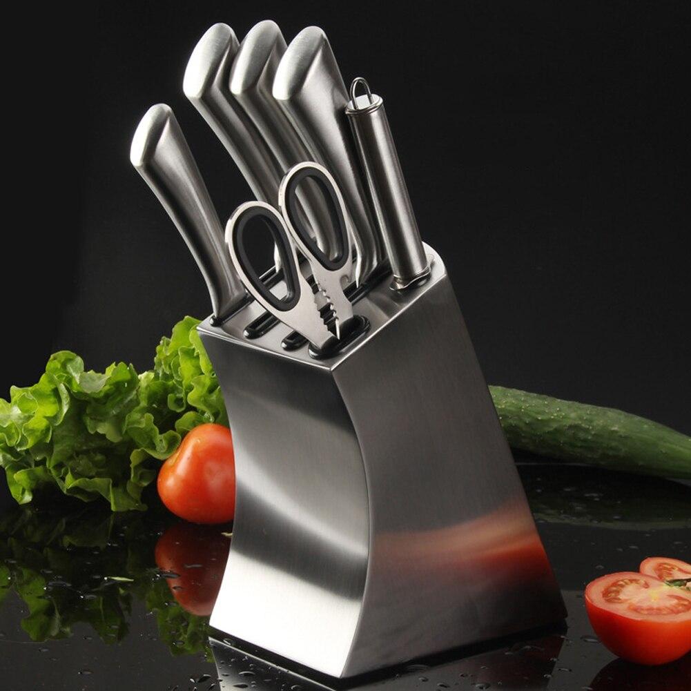 أداة مطبخ من الفولاذ المقاوم للصدأ ، حامل سكاكين ، أدوات مائدة متعددة الوظائف ، ملحقات تخزين ، رف متين ، حامل سكاكين ، خضروات
