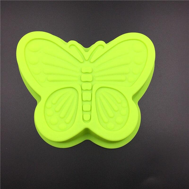 Molde de silicona en forma de mariposa para Tartas, hecho a mano, DIY, molde de pan, herramientas de decoración de tartas