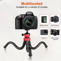 New Flexible Octopus Mobile Tripod With Phone Holder Adapter for iPhone X Smartphone DSLR Camera Nikon Canon Gopro Hero