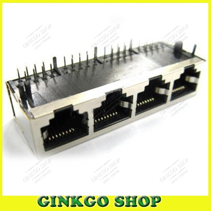10 قطعة/الوحدة 59/1x4 درع نوع 90 درجة 4 ميناء rj45 lan شبكة وحدات موصل الشحن مجانا
