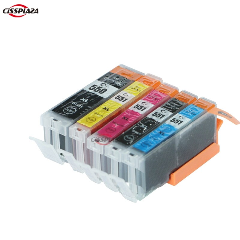 CISSPLAZA 20 x متوافق الحبر خرطوشة PGI550 CLI 551 لكانون IP7250 MG5450/MG5550/MG5650/MG6450/MG6650. MX725/MX925 IX6850