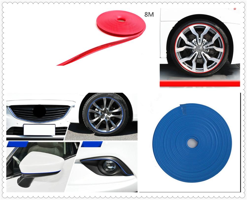 Personalidad del coche llanta tira decorativa línea de protección de neumáticos 8 m goma para Opel Astra g/gtc/j/h Corsa Antara Meriva Zafira
