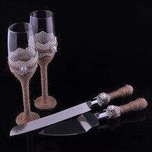 Ensemble de 4 couteaux et serveurs de Mariage   Personnalisés + flûtes de banquet de Mariage, verres à Champagne, décoration de Mariage, Boda de Mariage