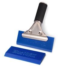 EHDIS металлическая ручка синий Макс скребок + 1 шт. запасное резиновое лезвие инструмент для обертывания автомобиля виниловая сменная пленка инструмент для установки Автомобильный скребок для льда