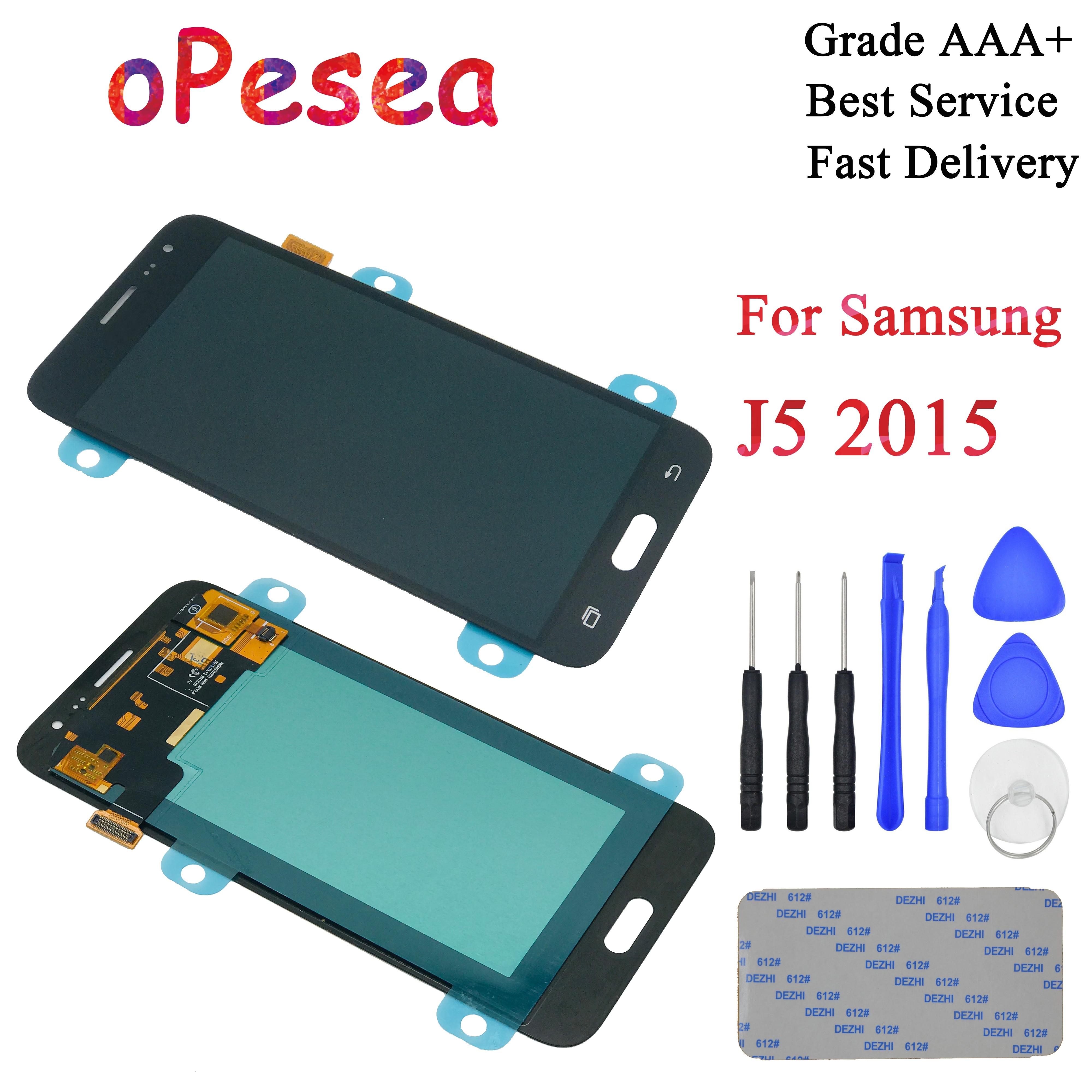 oPesea AMOLED For Samsung Galaxy J5 2015 J500 J500F J500FN J500H LCD Display Panel Touch Screen Digitizer Glass Sensor Assembly