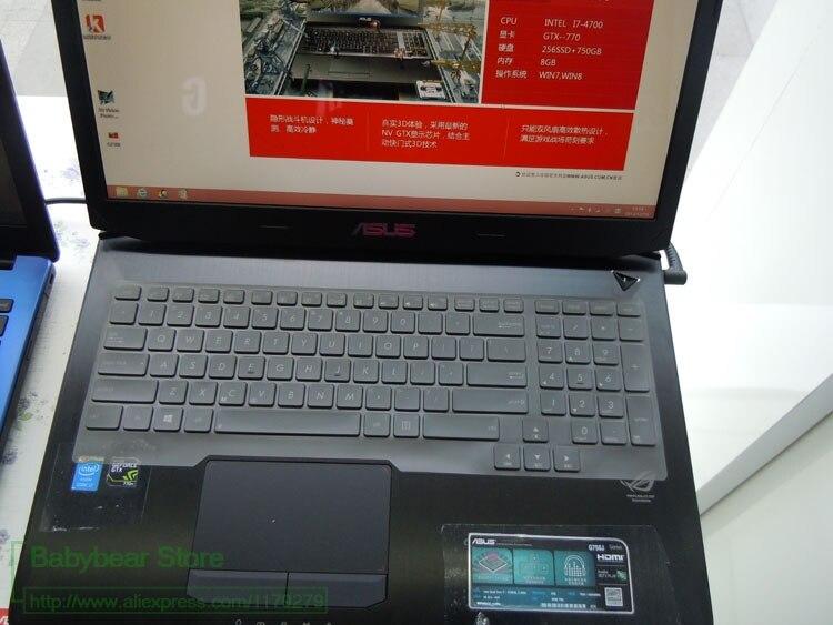 Para ASUS série G750 G751 17 polegadas laptop Teclado de Silicone pele Protetor G750JX G750JZ G750JY G750JM G750JS G750JW G750JH