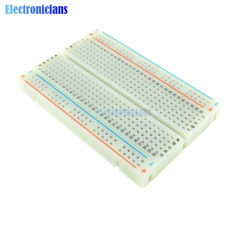 400 agujeros de puntos de corbata placa de circuito impreso Universal sin soldadura Mini Protoboard de prueba DIY tablero de pan para Bus placa de circuito de prueba MB102
