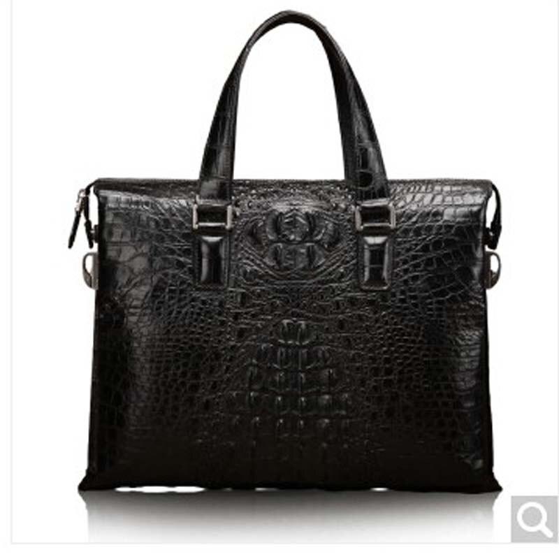 baosidu Crocodile skin Man Briefcase men handbag European computer single shoulder bag  Crocodile men bag male handbag