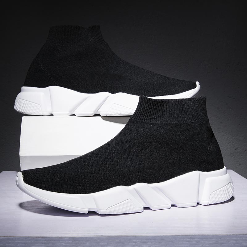 Zapatillas deportivas de talla grande para Mujer, calcetín superior, transpirables, color negro,...