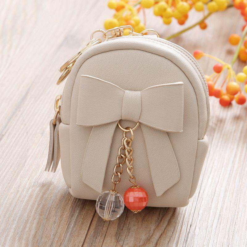 2018 Mini Bow tie bag Shape Children Cute Coin Purses for Girls Kid Wallets white Colors Storage Bag Monederos Pequenos