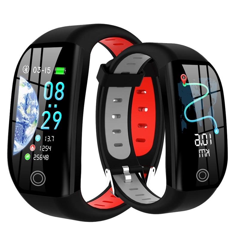 F21 смарт-браслет GPS дистанционный фитнес-трекер IP68 Водонепроницаемые часы кровяного давления монитор сна смарт-браслет