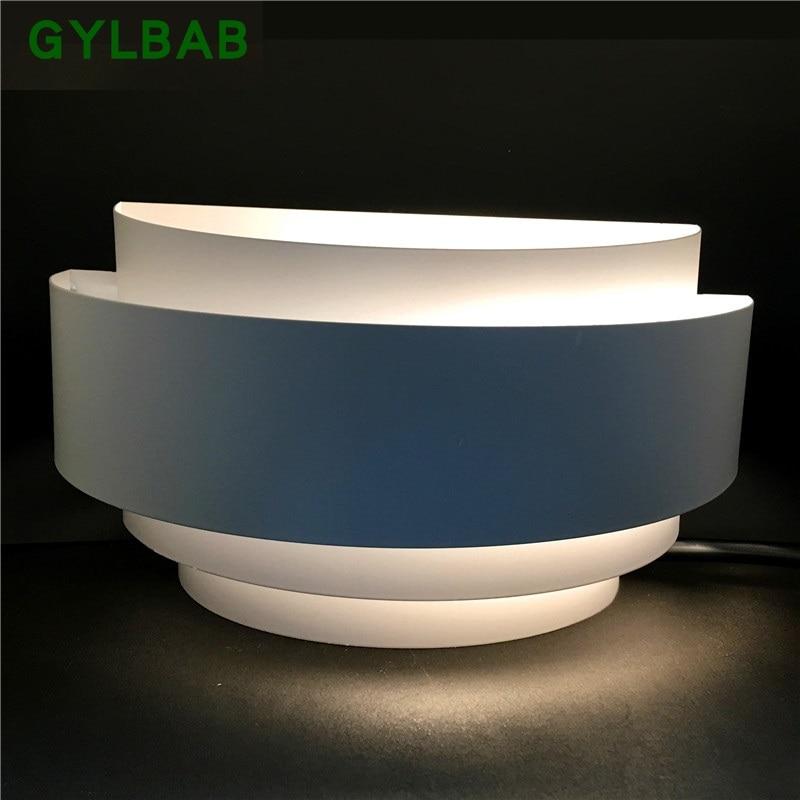 Luz de pared led semicircular GYLBAB 5W e27 lámpara de porche artes 110v 220v refracción estado de ánimo hotel
