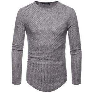 2018 Autumn Round Neck Men's Knitwear Europe and America Long Sleeve knitted TShirt Fashion Pullover Men S-XXL