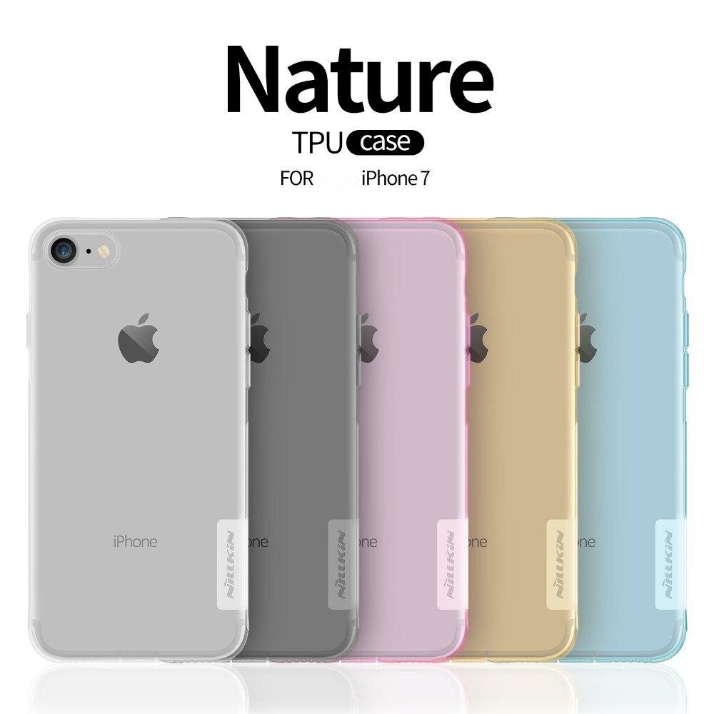 Чехол для Телефона iphone 7, тонкий чистый ТПУ силиконовый защитный чехол для ПК, оригинальные чехлы для iphone 8