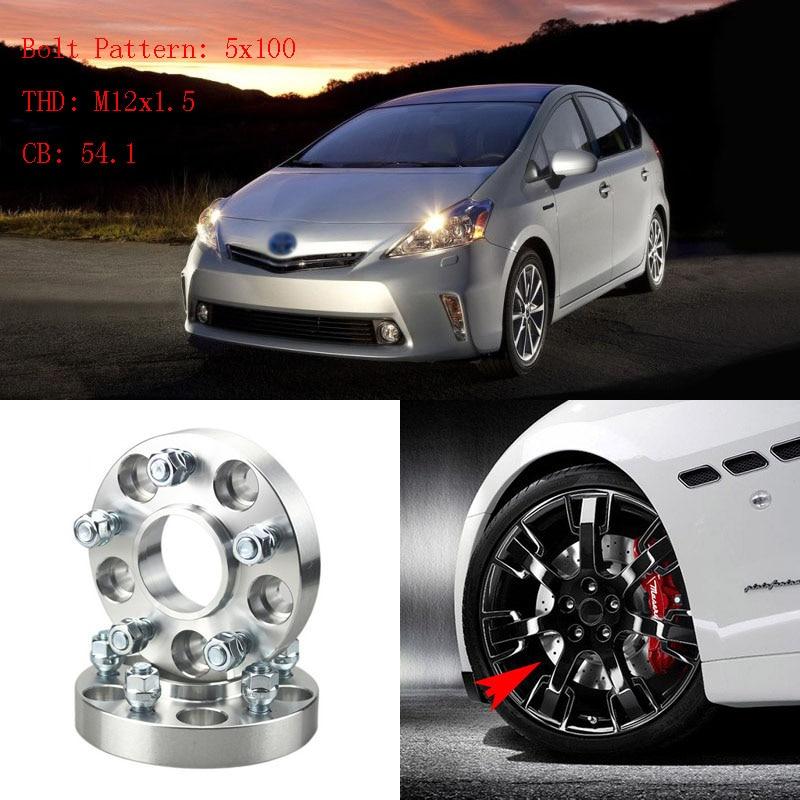 """Adaptadores de espaciadores de rueda 4 Uds 1 """"5 terminales 5x3,9 pulgadas/5x100-12x1.5 pernos para Toyota Pruis 2005 +"""