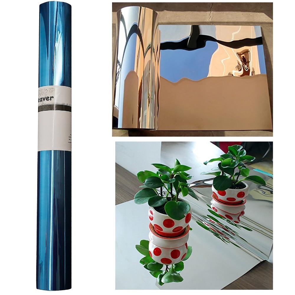 50cmX2m солнечный светильник, отражающая пленка, наклейки, зеркальные, водонепроницаемые, самоклеющаяся УФ-отражающая пленка/светильник, непр...