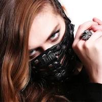 punk new fashion rivet punk rock leather men and women mask