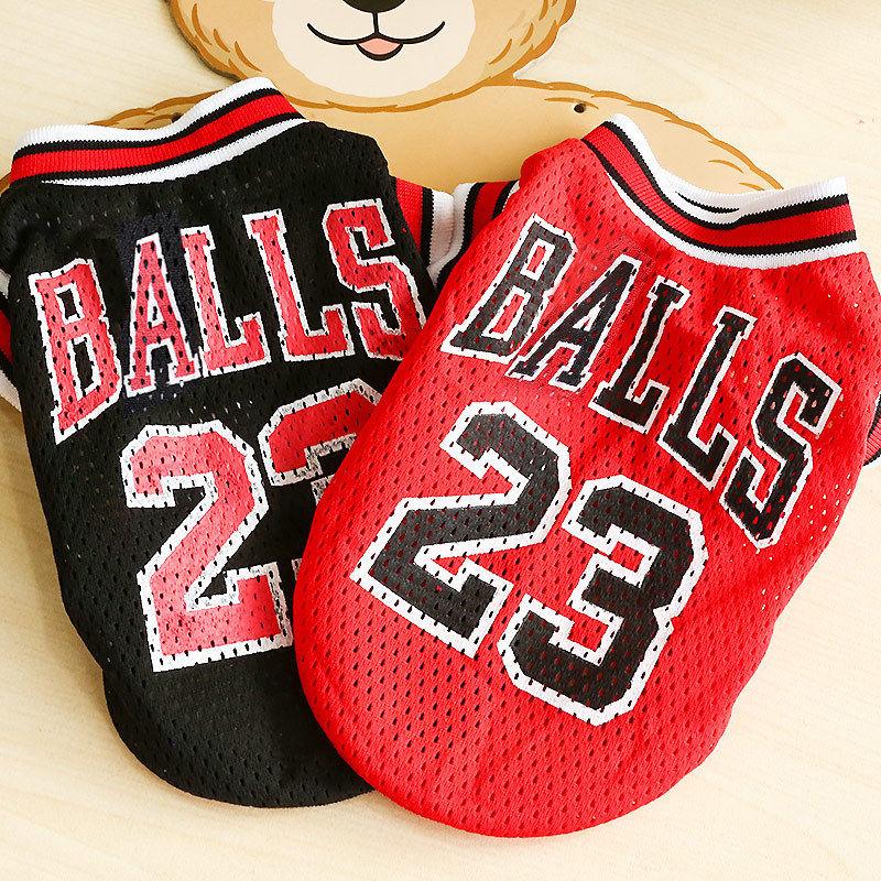 Chaleco para perro verano, Camiseta deportiva para gatos, ropa para mascotas, sudadera de malla transpirable, Jersey de baloncesto, ropa para perros, suministros para mascotas gatos