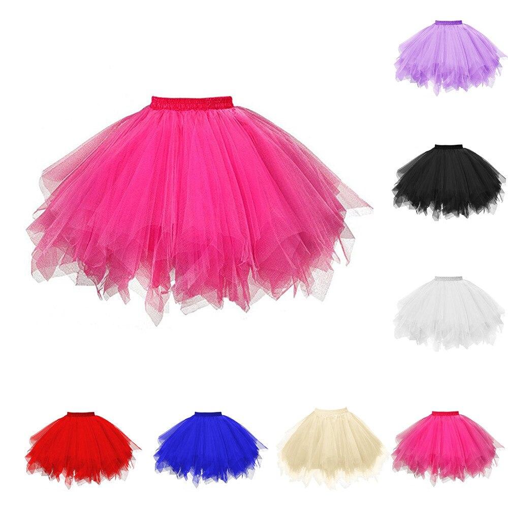 Womens High Quality Pleated Gauze Short Skirt Adult Tutu Dancing Skirt Grenadine Bust Bubble Skirt vetement femme 2018#F