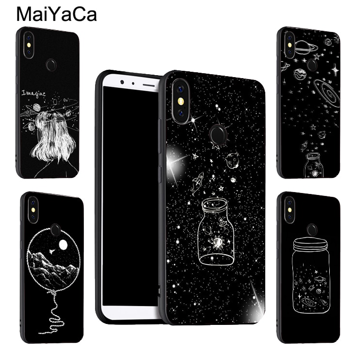 Etui astronaute espace MaiYaCa Moon Stars pour Xiaomi Redmi Note 9 8 Pro K30 7 9S 8T 7A 8A Mi 9T 10 Pro 9 Lite A3 Max3 Mix3