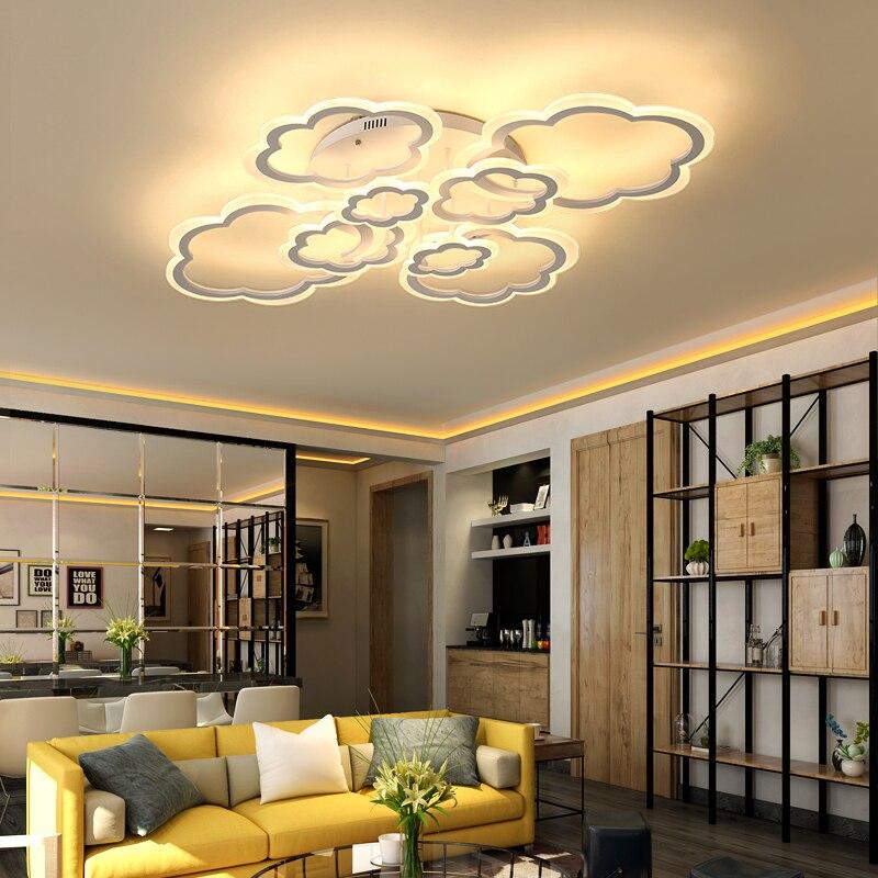 Дизайнерские минималистичные современные светодиодные потолочные лампы с облаками, современные светодиодные потолочные светильники для ...