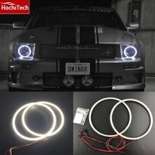 HochiTech-2005 angel eyes 2000LM 12V   kit de bagues en halo, Ultra lumineuses, SMD blanc, phare de jour, DRL pour ford Mustang 2009-